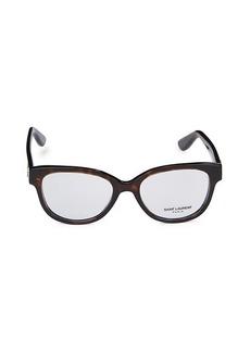 Saint Laurent 50MM Core Square Optical Glasses