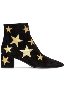 Saint Laurent 50mm Loulou Star Suede Ankle Boots