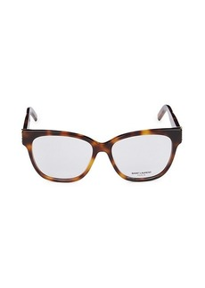 Saint Laurent 53MM Square Optical Glasses