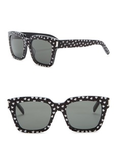 Saint Laurent 54mm Glitter Print Square Sunglasses