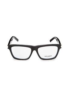 Saint Laurent 54MM Rectangle Optical Glasses