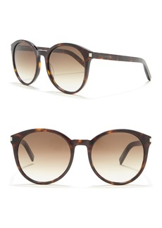 Saint Laurent 54mm Round Sunglasses