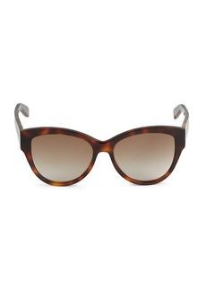 Saint Laurent 54MM Tortoiseshell Squared Cat Eye Sunglasses