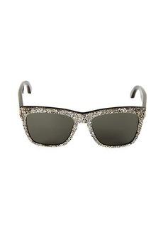 Saint Laurent 55MM Glitter Square Sunglasses