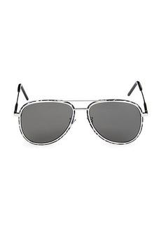 Saint Laurent 56MM Aviator Sunglasses