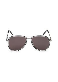 Saint Laurent 56MM Fashion Aviator Sunglasses