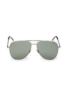 Saint Laurent 59MM Metal Aviator Sunglasses