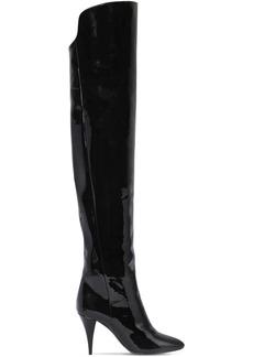 Saint Laurent 85mm Kiki Patent Leather Boots