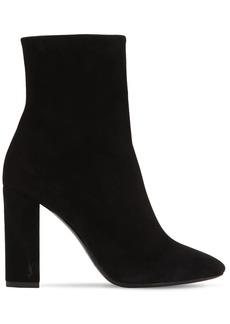 Saint Laurent 95mm Lou Suede Ankle Boots