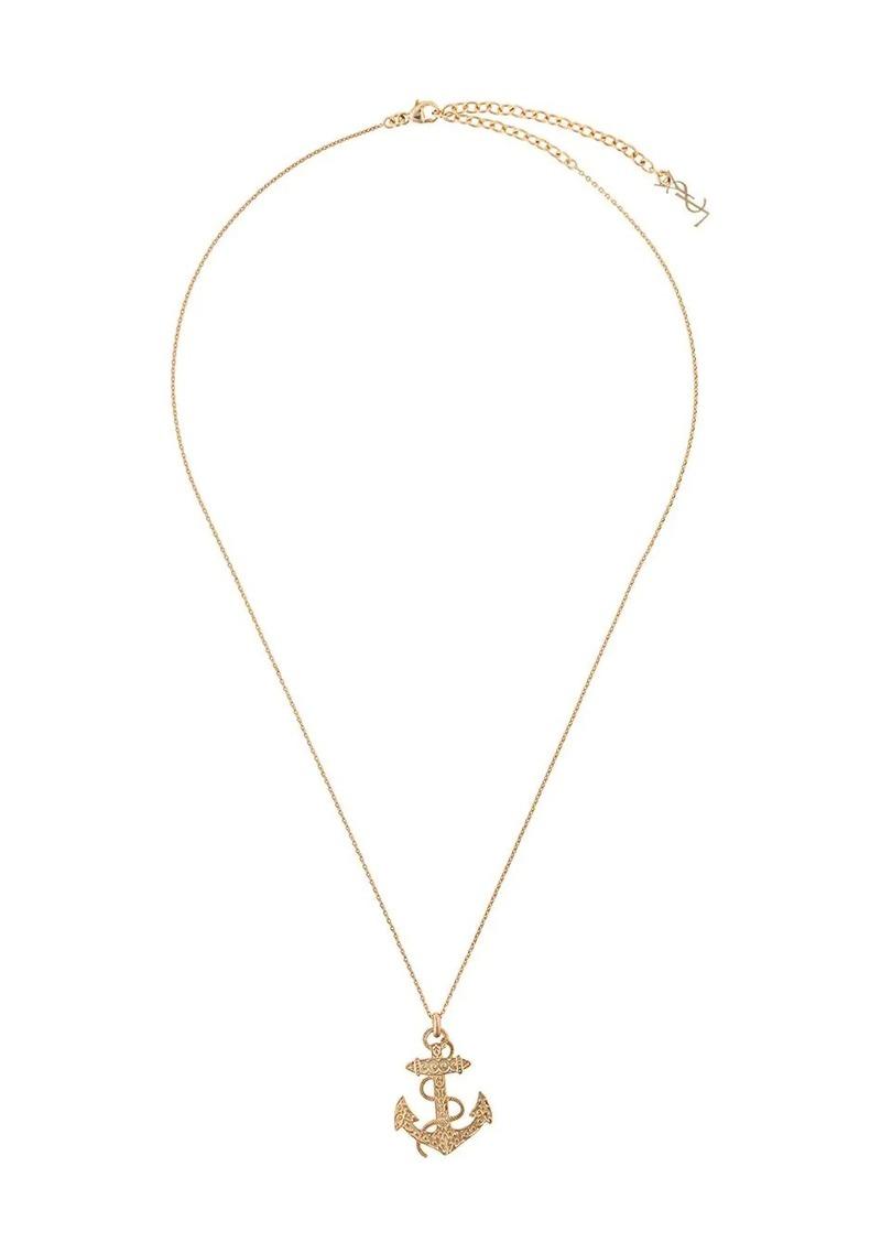 Saint Laurent anchor necklace