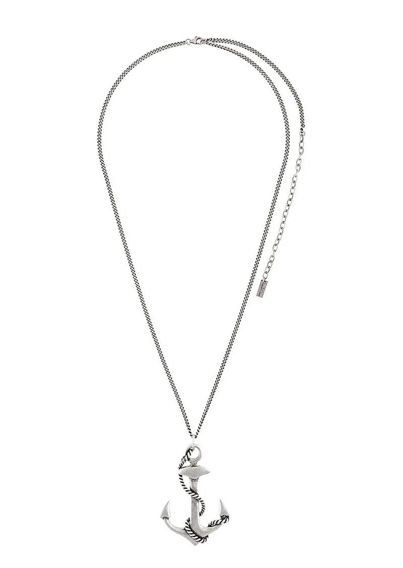 Saint Laurent anchor pendant necklace