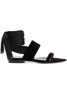 Saint Laurent ankle wrap sandals