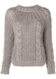 Saint Laurent aran cable knit jumper