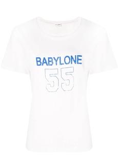 Saint Laurent Babylone print T-shirt