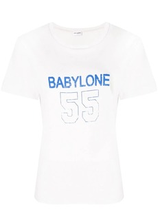 Saint Laurent Babylone print T-shirt