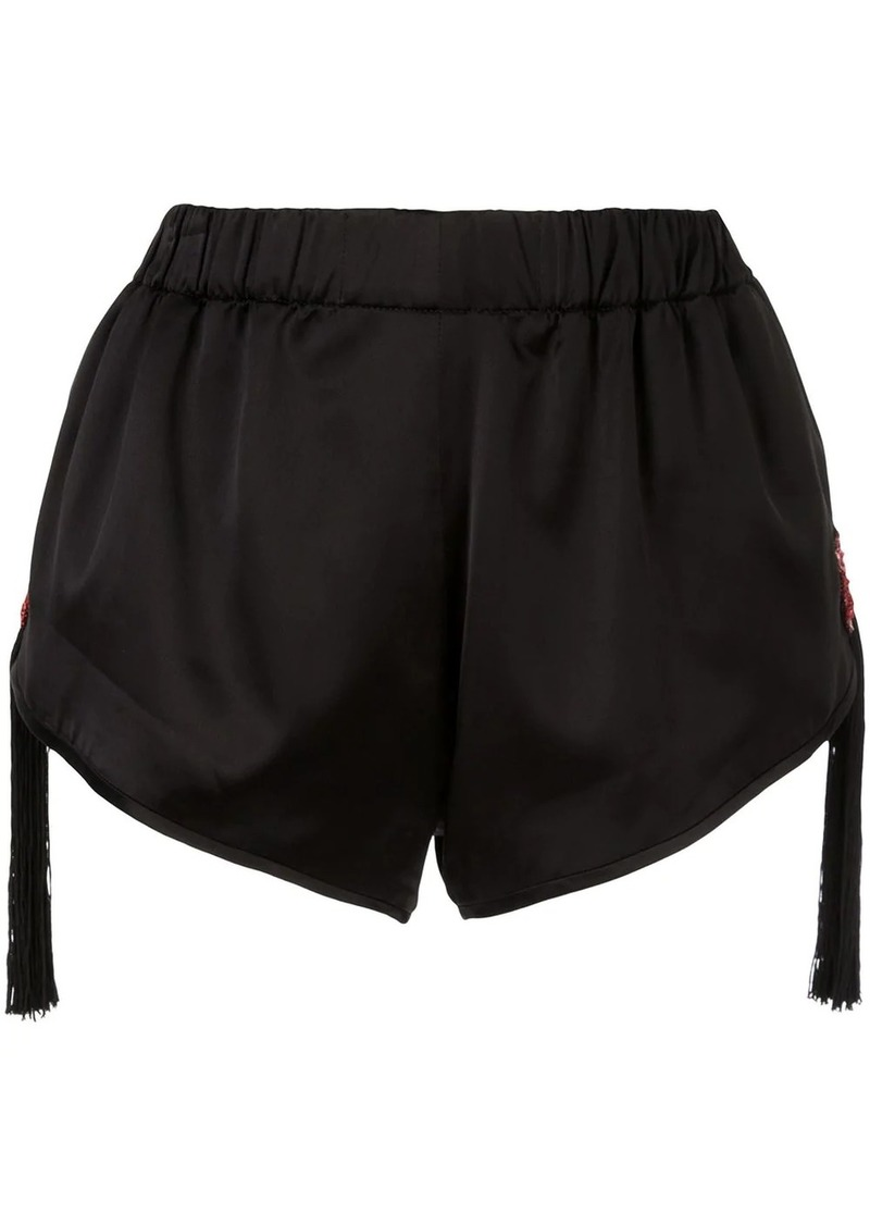 Saint Laurent beaded fringed star shorts