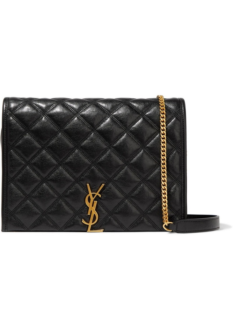Saint Laurent Becky Small Quilted Textured-leather Shoulder Bag