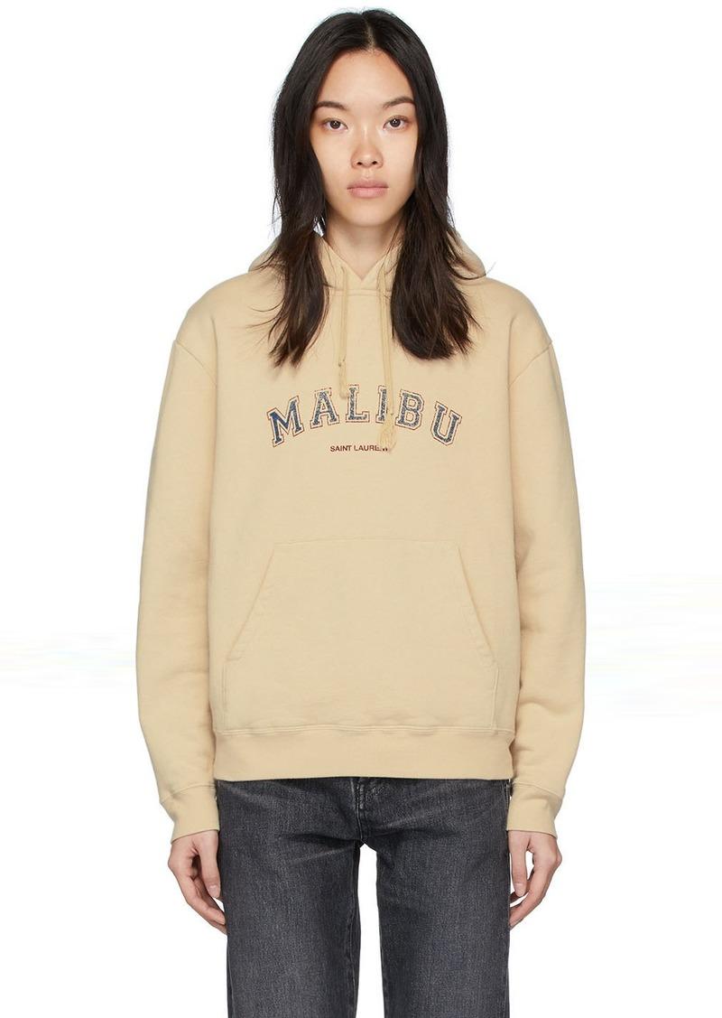Saint Laurent Beige 'Malibu' Hoodie