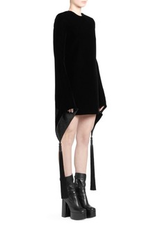 Saint Laurent Bell Sleeve Velvet Mini Dress