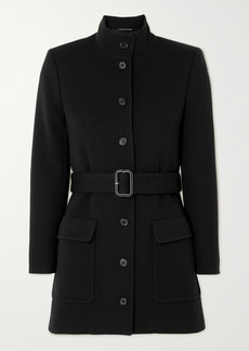 Saint Laurent Belted Wool-blend Jersey Jacket