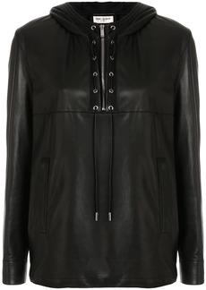 Saint Laurent leather long-sleeve shirt
