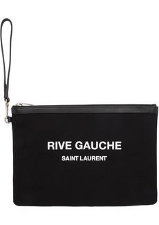 Saint Laurent Black Canvas Pouch