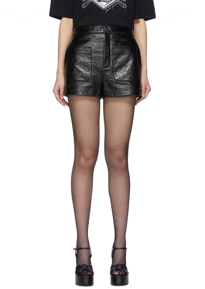 Saint Laurent Black Coated Shorts