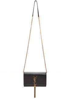 Saint Laurent Black Kate Tassel Chain Wallet Bag