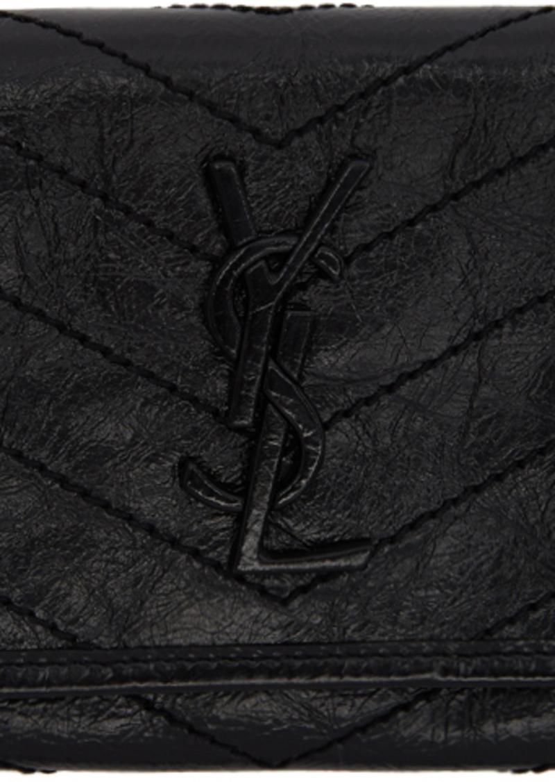 Saint Laurent Black Large Flap Niki Wallet