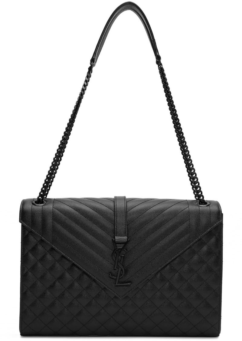 Saint Laurent Black Large Monogramme Envelope Bag