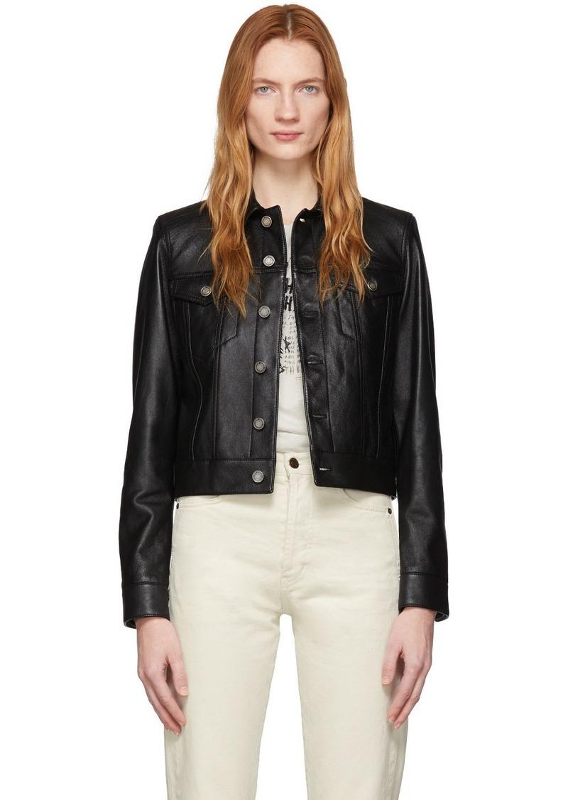Saint Laurent Black Leather Classic Jacket