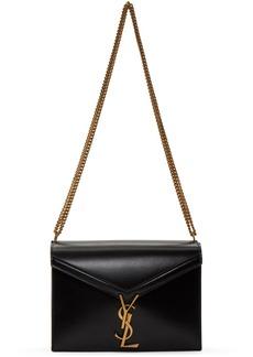 Saint Laurent Black Medium Cassandra Monogramme Envelope Bag