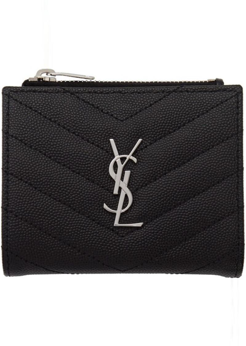 Saint Laurent Black Monogramme Fold Over Wallet