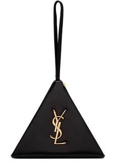 Saint Laurent Black Pyramid Box Clutch