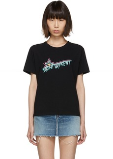 Black 'Saint Laurent Star' T-Shirt