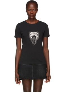 Saint Laurent Black 'Secret Society' T-Shirt