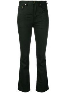 Saint Laurent black slim fit trousers