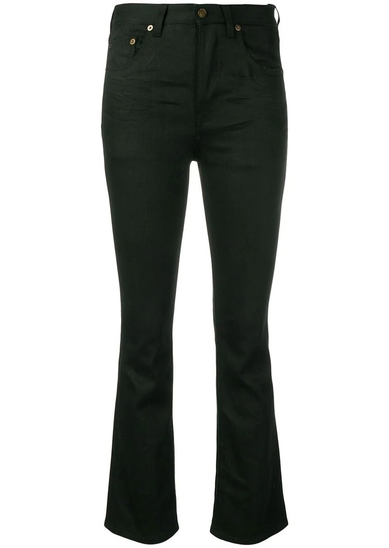 Saint Laurent black slim fit trousers