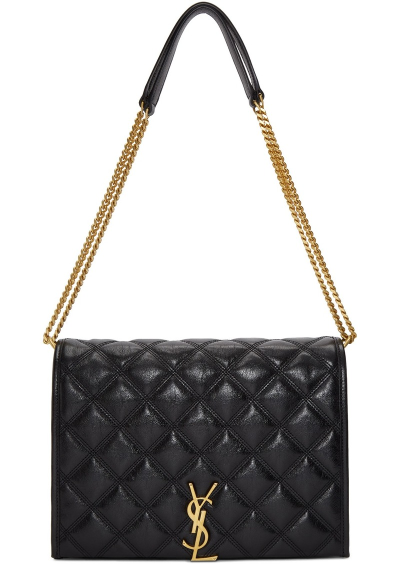 Saint Laurent Black Small Becky Chain Bag