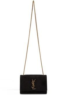 Saint Laurent Black Small Kate Crystal Monogramme Bag