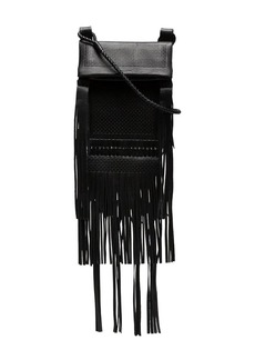 Saint Laurent black Tanger fringed leather cross body bag