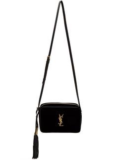 Saint Laurent Black Velvet Lou Camera Bag