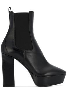 Saint Laurent Black Vika 125 Leather platform boots