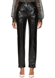 Saint Laurent Black Vinyl Skinny Trousers