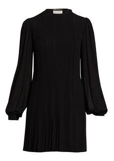 Saint Laurent Blouson Sleeve Mini Dress