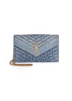 Saint Laurent Blue Jeans Wallet-On Chain