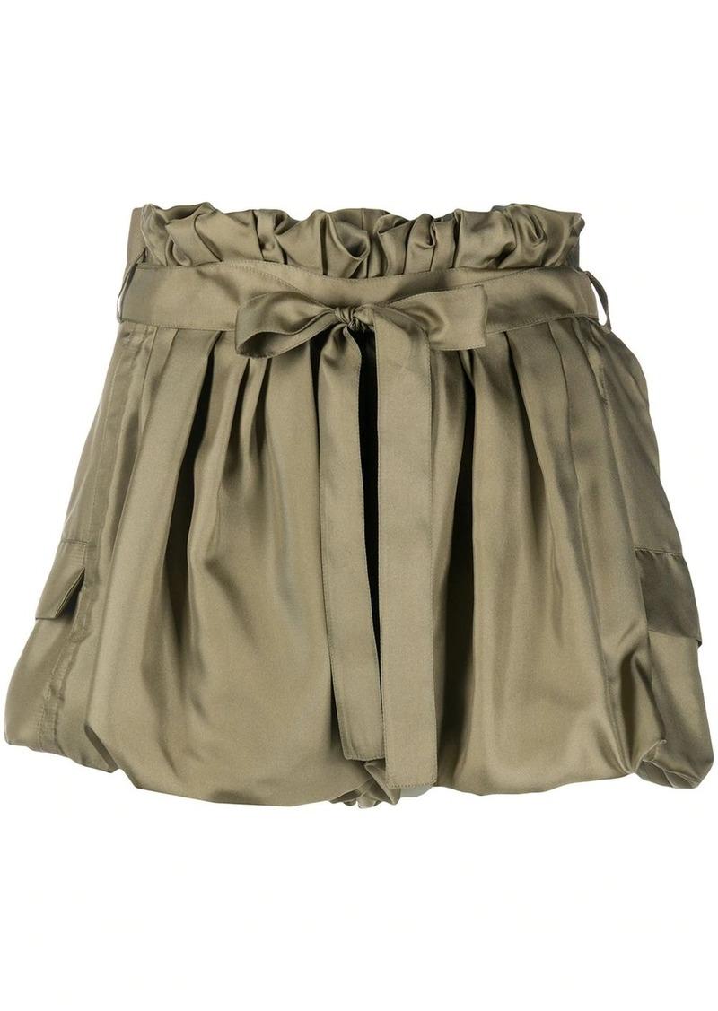 Saint Laurent bouffant silk shorts