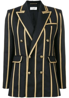 Saint Laurent braided stripe blazer