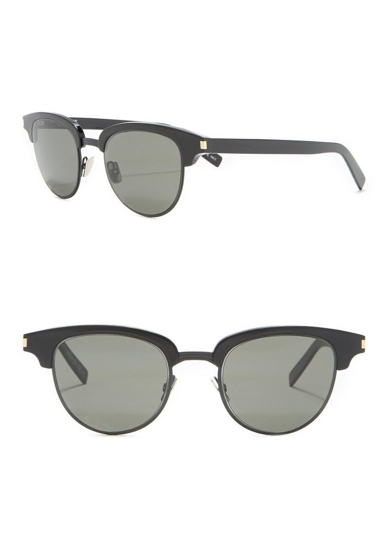 Saint Laurent Browline 49mm Clubmaster Sunglasses