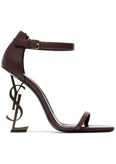 Saint Laurent Brown Opyum 110 Leather sandals